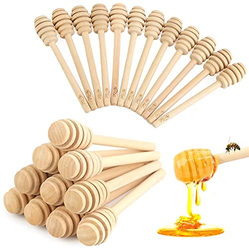 HANSGO Honeycomb Stick, 16PCS 5 Inch Mini Wood Honey Dipper Sticks Honey Stirrer