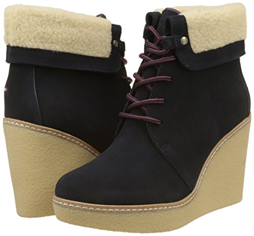 Blue midnight Boots 1bw Hilfiger Chukka B12385randy Women''s Tommy qPwFpY1