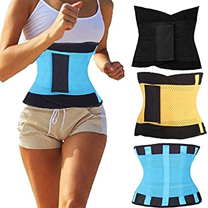 206459707b2c2 Image Unavailable. Image not available for. Color  Workout Waist Trainer  Cincher Fitness Body Shaper Back Brace Lumbar Support Belt