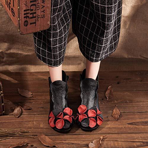 Beautyjourney Épaisseur De Noir Bottes Lacet Bottine Dentelle Courtes Femmes Uggs Haut Haute Talon up Chaussures Bottines Chelsea Détente qqwvrOT