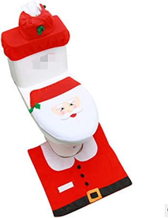 Bestpriceam Christmas Snowman Lid Single Toilet Cover Christmas Decoration