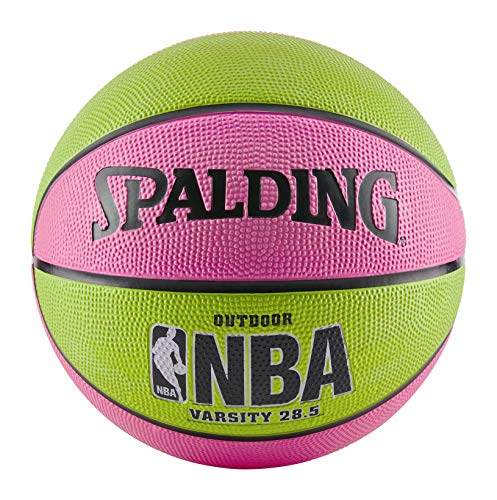 Spalding NBA Varsity Basketball - Pink/Green (28.5
