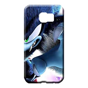 samsung galaxy s6 edge Shatterproof Durable Perfect Design cell phone carrying skins evil sonic the hedgehog