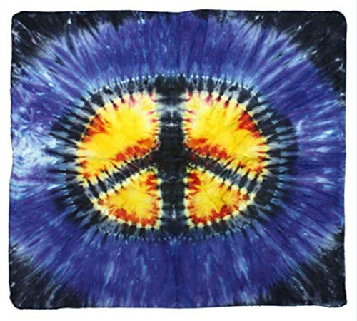 (Sunshine Joy Peace Sign Tie-dyed Bandana)