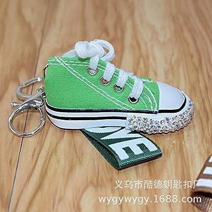 ahliwei Diamante Zapatos Rhinestone Lienzo Fino Llavero ...