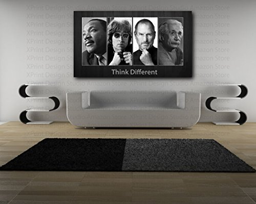 Think Different ` m.l.キング、ジョン・レノン、s.ジョブ、アインシュタインキャンバスジークレー印刷 Giclee Art Print 42`x23.5`の商品画像