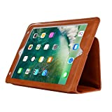 iPad case with Auto Sleep,Vacio PU Leather Case Tablet Smart Stand Case Slim Fit Cover with Card Slot and Hand Strap for iPad Pro 10.5 (Light Brown)