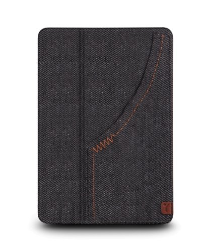 The Joy Factory SmartSuit iPad mini Ultra-Slim Snap-On Stand/Case with Wake-up/Sleep, Denim Black (CSE104)