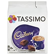 TASSIMO Cadbury Hot Chocolate Drink 16 discs, 8 servings (Pack of 5, Total 80 discs, 40 servings)