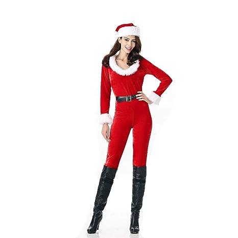 Lingqiqi Costume di Babbo Natale I Pantaloni delle Donne delle Donne del  Vestito Divertente di Natale b91444e15bc
