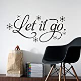 Let It Go Words Kid's Room Snow Vinyl Frozen Wall Sticker Home Wall Words Print Wall Decors