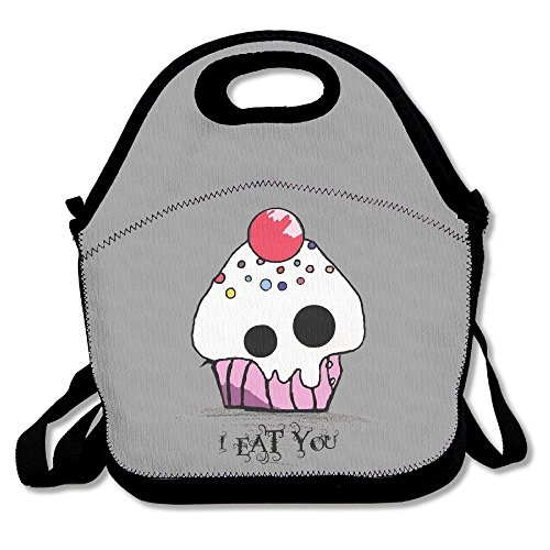 Gzhouqube Halloween Evil Cupcake Delicate And Small Bento Bag, With Full Zipper Cover, Convenient For (Halloween Song Lyrics For Toddlers)