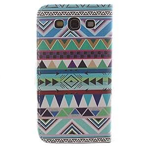 Barclay Domett Samsung Galaxy S3 SIII I9300 Funda Carcasa Case Funda De Cuero Con Funcion Atril, Funda Billetera Con Tapa Para Tarjetas ,Flip Piel Carcasa Para Samsung Galaxy S3 SIII I9300(Azul-Verde Color)