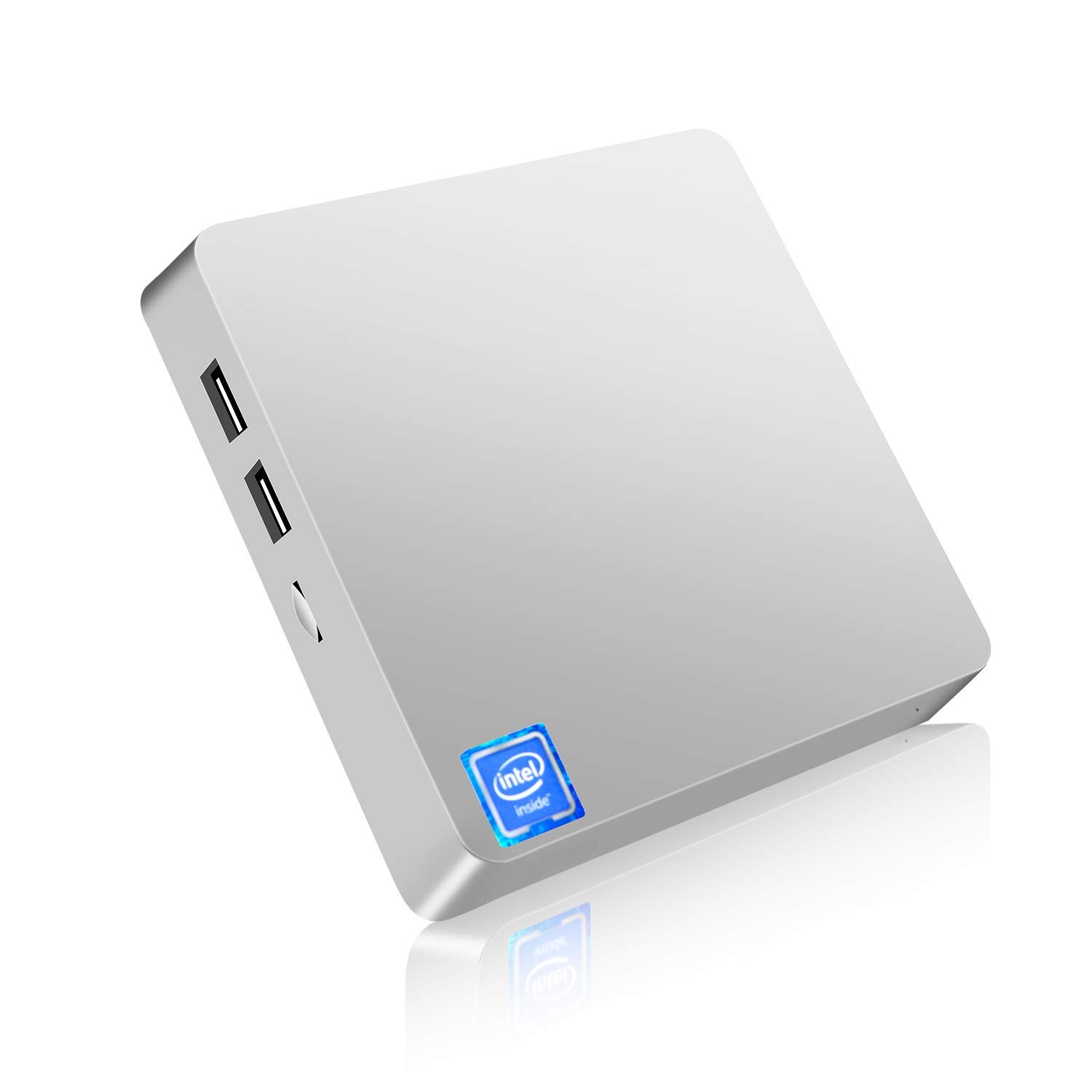Mini PC,T11 Windows 10 Pro(64-bit) Intel x5-Z8350 Fanless Mini Computer with HDMI/VGA Port,4K HD,4GB/64GB eMMC,2.4/5G WiFi,Gigabit Ethernet,Support 2.5-Inch SATA SSD/HDD,Auto Power On