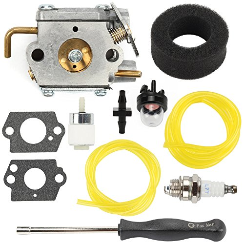 Hilom WT-827 carburetor with Screwdriver Air Fuel Filter for MTD Bolens Trimmer BL100 BL150 BL250 BL410 Yard Man Machines YM70SS 120R 121R 2800m Y28 Y725 YM1000 Weedeater 7843 753-05133 753-04333