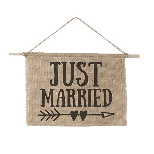 Ivy Lane Design AM1037 Just Married Sign, 11 x 14