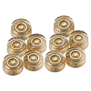 10pcs speed control knobs gold for gibson les paul replacement electric guitar parts. Black Bedroom Furniture Sets. Home Design Ideas