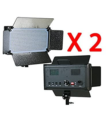 ePhotoInc 2 x 500 LED Light Panels Photography Video Studio Lighting Panel with Filters and Dimmer Switch 500SDx2 from Ephotoinc