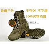Heng Heng - High BROWN GREENhawk tactical boots lightweight desert combat boots 511 Summer breathable boots (COLOR :BROWN GREEN   SIZE : 10)