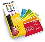 Made With Tone Guitar Chords Flash Cards, a Great Gift for Music Lovers and Beginner Musicians! All The Major Chords and Notes to be a Guitarist!