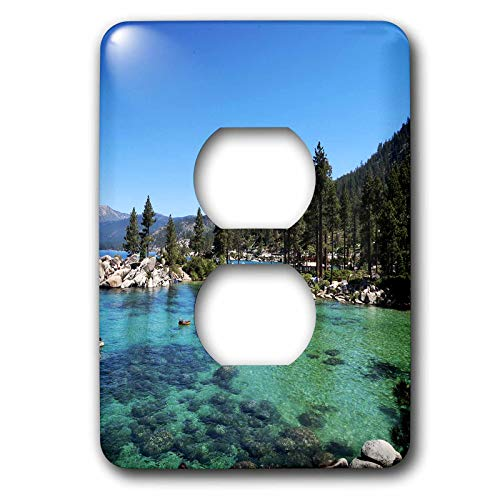 Lake Outlet (3dRose Tory Anne Collections Photography - Lake Tahoe Sand Harbor Beautiful View - Light Switch Covers - 2 plug outlet cover (lsp_292541_6))