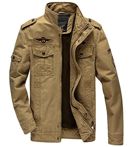 Price comparison product image NeeKer Jacket Plus 6XL Army Soldier Cotton Air Force one Male Spring Autumn Mens Jackets 8331 8331 Khaki 6XL