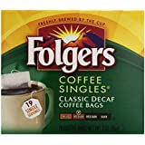 Folgers Singles, Decaffeinated, 19 ct