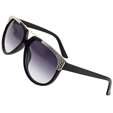 df2e1cd3c3 Sumery Retro Vintage Unisex Round Lens Sunglasses Brand designer Sun Glasses  Women Men Unisex (Black