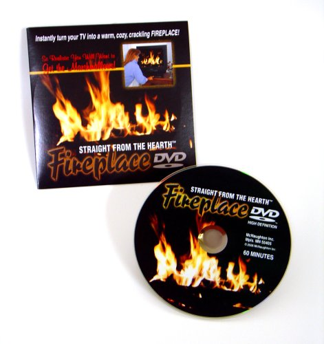 Fireplace Hearth Dimensions (Gadjit Fireplace DVD -- Straight from the Hearth, 60 minute Video of a roaring fire in a fireplace)
