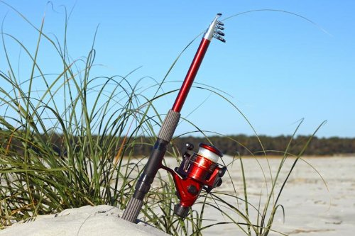 (8ft 7 in 2.7M Telescoping Fiberglass Fishing Rod & Reel Combo by FTUSA)