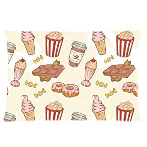Custom Delicious and Sweet Icecream Rectangle Soft Pillow Case Standard Size 16x24