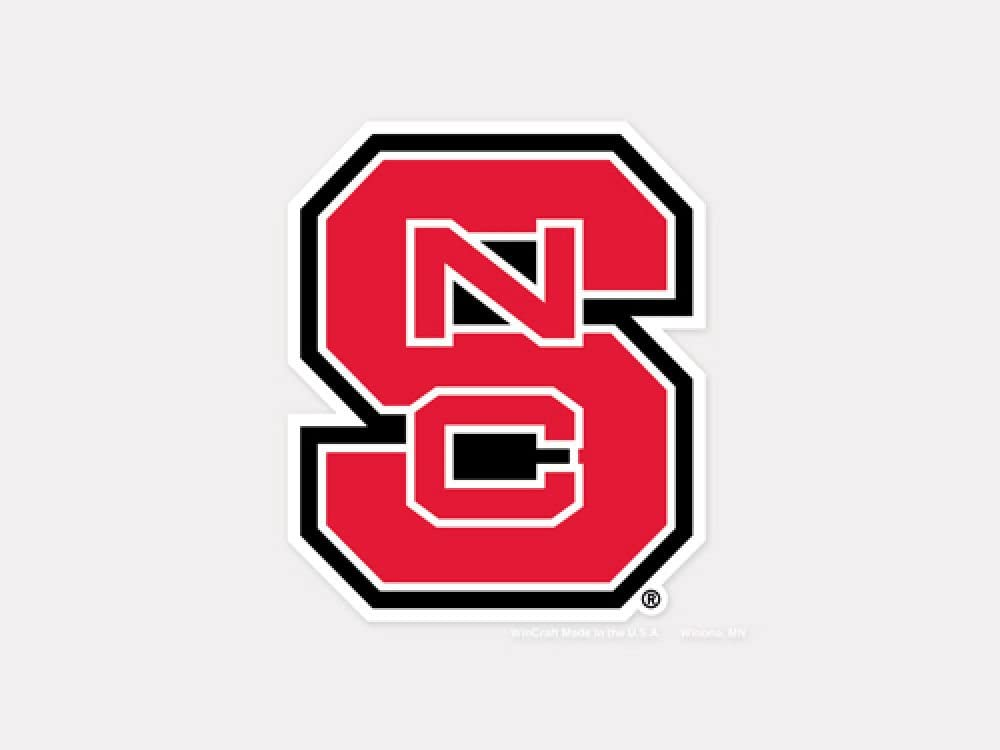 "WinCraft NCAA North Carolina State University Perfect Cut Color Decal, 4"" x 4"""