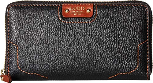 Lodis Accessories Women's Rodeo RFID Perla Zip Wallet Black/Sequoia One Size ()