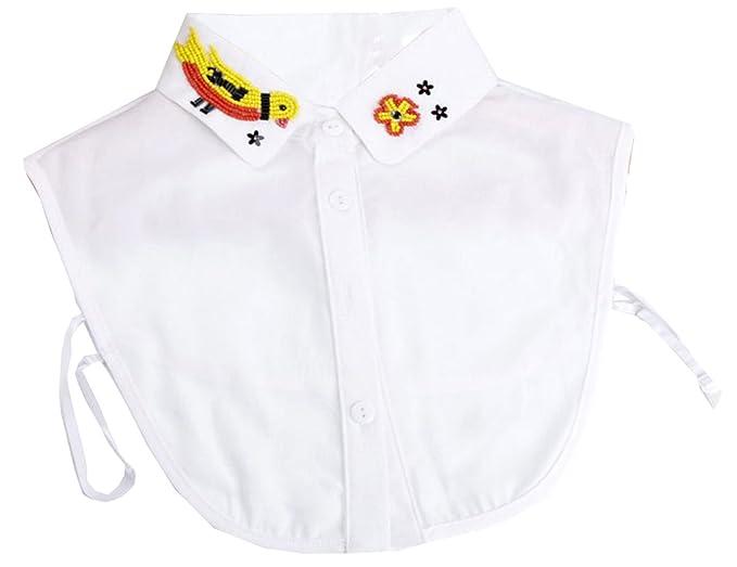 Kissing U Fake Half Shirt Bluse Elegant Style Abnehmbare Fake Collar mit  Verstellbaren Elastischen Bands Für 16bc9a9c4d