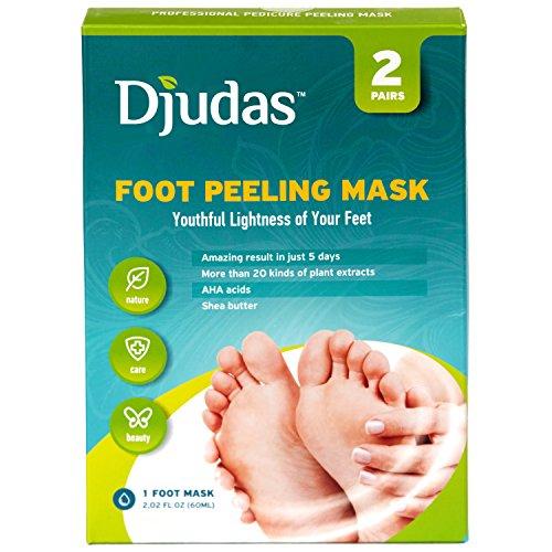 Paires de masque 2 peel exfoliants de Djudas pied de chaussettes - Purederm efficace Gommage gel - exfoliant, incroyable SPA pour les pieds doux bébé - essaient dès aujourd'hui