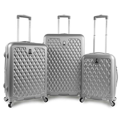 Pacific Coast Signature Pandora Hardside Rolling Travel Lug 3 Piece, Silver by Pacific Coast Signature