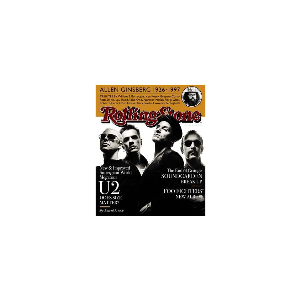 U2, 1997 Rolling Stone Cover Poster by Albert Watson (9.00 x 11.00)