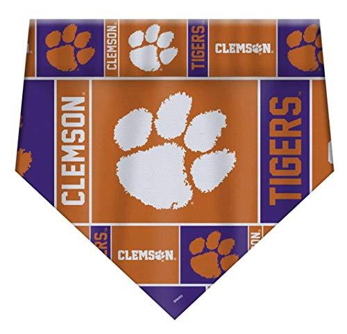 (Clemson Tigers NCAA Pet Dog Bandana Size Large)