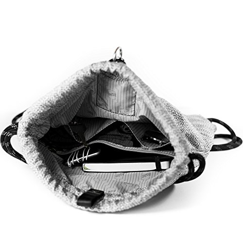 LOCTOTE Flak Sack SPORT - Lightweight Theft-Resistant Drawstring Backpack | Lockable | Slash-Resistant | Portable Safe by LOCTOTE (Image #4)