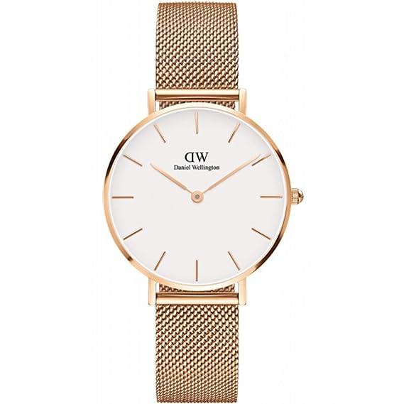 Daniel Wellington Classic Petite Melrose Reloj de Cuarzo Oro rosá: Amazon.es: Relojes