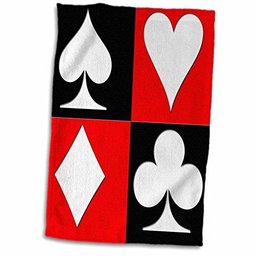 Popular Poker - 3D Rose Poker. Four of a Kind. Aces. Popular Image. Best Seller Hand Towel, 15