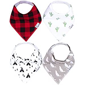 "Baby Bandana Drool Bibs for Drooling and Teething 4 Pack Gift Set For Boys ""Phoenix Set"" by Copper Pearl"