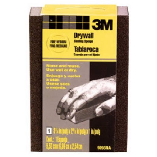 Fine//Medium 9093DC-NA 3M 9093DCNA Small Area Drywall Sanding Sponge 3.75 in by 2.625 in by 1 in