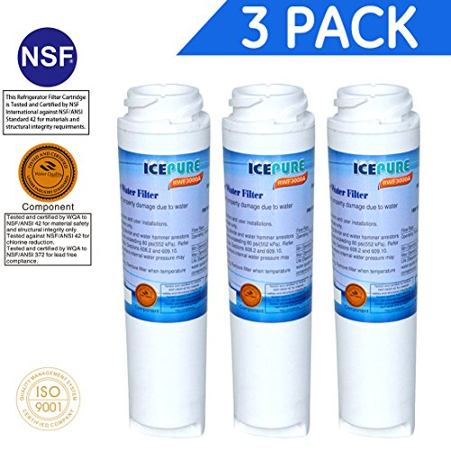 3X Compatible Water Filter by IcePure RFC3000A GE Kenmore GSWF 100749-C 100810/A 215C1152P002 238C2334P001 35917-MN-1 46-9914 AP3418061 GSWF3PK GSWFDS GTH22SHP GTS18KHP GTS22KHP PC36011 PC56994 PC5869
