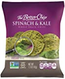 The Better Chip Whole Grain Chips, Spinach and Kale, 1.5 Ounce, 27 Count
