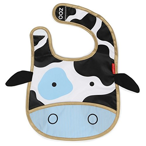 Skip Hop Zoo Tuck Away Bib, Cheddar Cow 232124