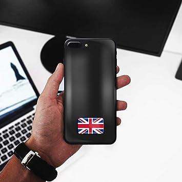 Biomar Labs/® Set Di 4 PVC Adesivi Stickers Inglese Argento Vinile Regno Unito UK Union Jack Flag GB Gran Bretagna Bandiera Per Auto Moto Finestr/ìno Porta Casco Scooter Bici PC Tablet Tuning D 58
