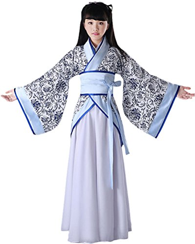 BlcSwan Girls Chinese Ancient Han Dynasty Costume Dress Halloween Cosplay -