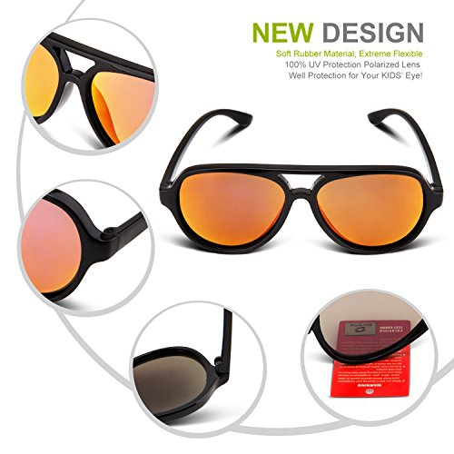e765d6c6f54 RIVBOS Rubber Kids Polarized Sunglasses With Strap Shades Glasses for Boys  Girls Baby and Children Age