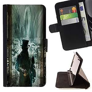 Momo Phone Case / Flip Funda de Cuero Case Cover - Biblioteca Verde Kids Misteriosas - HTC DESIRE 816